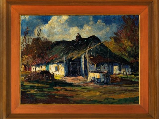 Peter van den Braken (1896 – 1979) Boerderij in de Brabantse Kempen olieverf op doek, gesigneerd