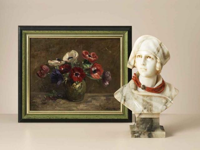 """Emanuel van der Ven """"Anemonen"""", olieverf op doek"""