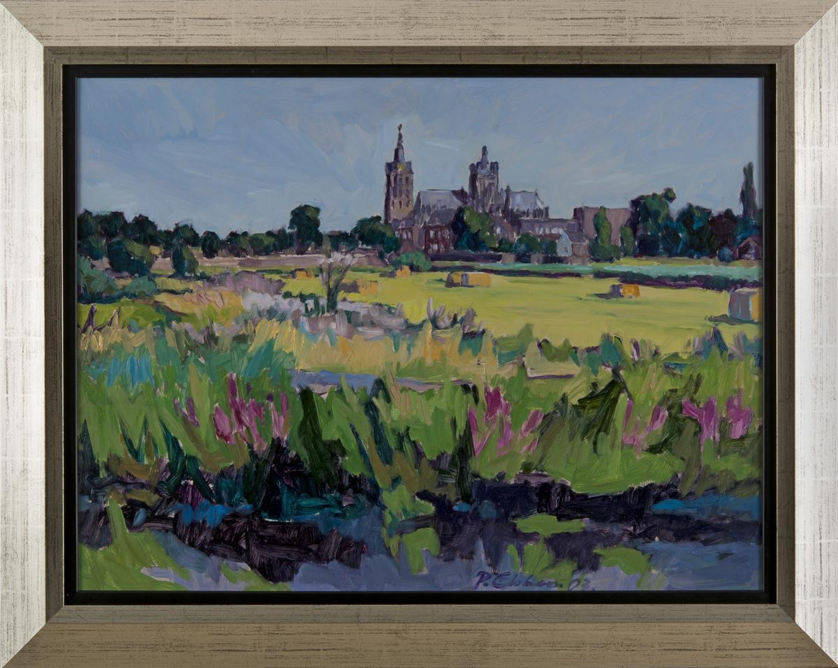 Bossche Broek met Sint-Jan in 's-Hertogenbosch, olieverf. Paul Ebben 2003